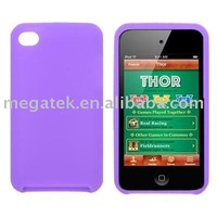 Phone accessories phone case Plain rubber Silicone Case for itouch 4g, for ipod touch cover