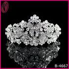 Fantasia de noiva tiara beleza da princesa com cristal borboleta