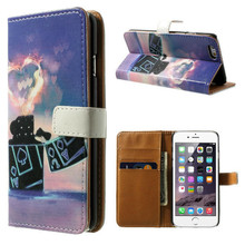 Love Flame Design with Card Holders Cell Phone PU Leather Wallet Covers Cases For iPhone 6/6 Plus, Accept Paypal
