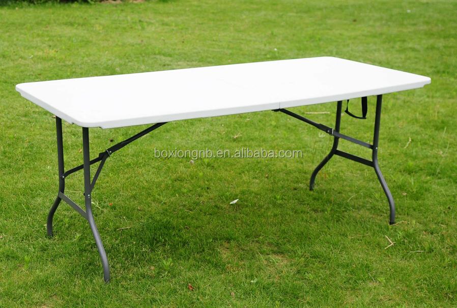 6ft moiti table pliante pliable camping picnic party tables de jardin 1 8 m new table pliante. Black Bedroom Furniture Sets. Home Design Ideas