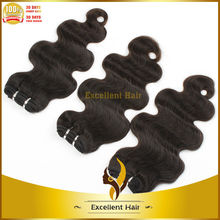 High quality fashion natural black color remy virgin natural color body wave hair braid
