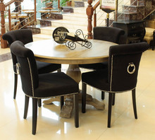 Modern Button design Fabric Dining/ Living / Hotel Ring back chair (KY-3205)