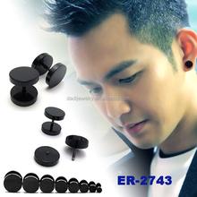 Fashion jewelry stud earrings design men black earring