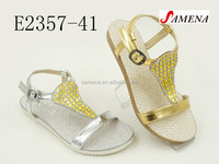 shining colorful new design fashion girls sandals 2016