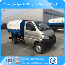 Best selling cheap price petrol/gasoline type 2-3m3 mini hook arm garbage truck