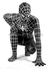 Halloween Lycra Spandex zentai costume red blue or black Spiderman latex costume fancy suit QAMC-2335