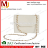 2015 new style girls glossy pu leather handbag , pure white fashion lady shoulder bag
