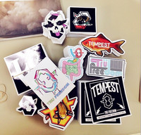 Custom Shape Cut PVC Sticker Decal Mix Design Outdoor Sticker For Bicycle