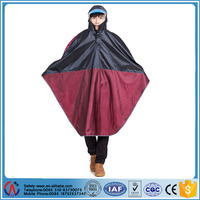 High quality polyester rain poncho for ladies and men,reflective rain coat poncho for adults