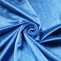 Bleu velours draperie tissu