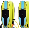 "7 ft 6 inch Epoch power Kids Inflatable Stand Up Paddle Board with Pump and 3 Piece Adjustable Paddle (4"" Thick) Super Durable"