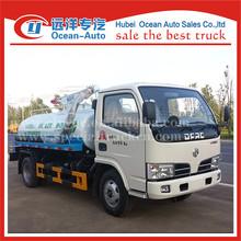 DFAC 4CBM white color fecal vacuum suction truck