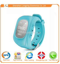 wrist watch gps tracking device of kids gps watch for iphone 6 and android smart phone