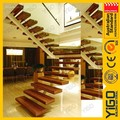 Escalera de hierro forjado diseño/acero escalera de madera/casa escalera de acero