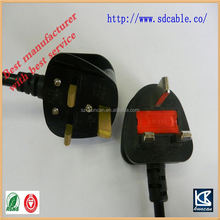 uk AC power cable uk power cord with socket uk plug bs 136 power cord with iec c7 8 shape power cord