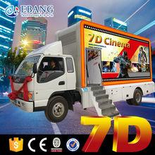 electric/hydraulic 6dof platform 7d mobile cinema 9d truck mobile cinema