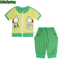 Spedizione gratuita in magazzino abbigliamento produttori all'estero tessuto di cotone persnickety dei bambini set di abbigliamento wl