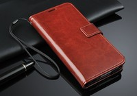 China Factory Supply Stent Pattern Crazy Horse Texture Wallet Leather Case For Samsung Galaxy S5 Plus with Card Slots