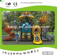 polyethylene and metal playground equipment used for preschool and backyard, Children Play Center with Slides and new roofs