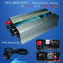 For DC Output Wind Turbine dc to ac 24v wind grid tie inverter 300w