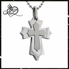 High Polish / Matte Finish Stainless Steel Cross Pendant
