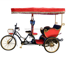 factory directly CE approved pedal assisted 3 wheel velo taxi
