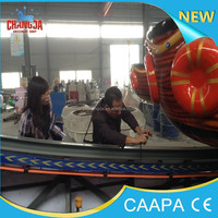 spinning boat children game!Children games outdoor rotary and sliding amusement rocking tug boat