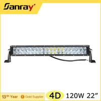 20inch led light bar 4D lens 120w led light bar IP68 waterproof for vehicle off road