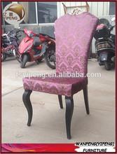 Patrón de la flor de la tela silla de comedor tapizada/diseño de la corona de banquetes silla de restaurante