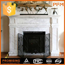 Outdoor electric marble fireplace surround