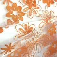 Flocking organza fabric for scarf/organza curtain fabrics / floral organza fabric