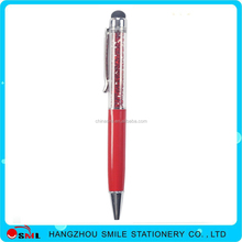 High quality crystal plastic pen screen pen and touch pen