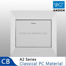 Classical PC Material White Color Electric Wall Switch For Home