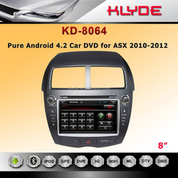 KLYDE 2 din android4.4.4 car dvd player --- ASX 2010-2012 With Gps Navigation