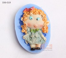 silicone pouting girl cake mould,3d cake decorating tools,forma de silicone