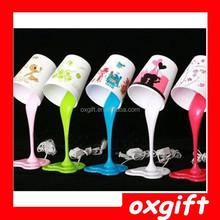 OXGIFT Promotion Wholesale - Woopsy Poured Paint Bucket Led Multi-Coloured Desk Lamp Night Light DIY Items Novelty Gift Free Shi