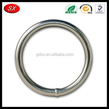 China manufacturer customized 316 stainless steel welded round rings, brass O shape rings machining services
