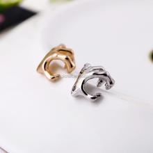 Hottime Fashion Jewelry Alloy Earrings No Pierced Clip Skeleton Earrings Punk Skull Skeleton Wholesale Fingernail Earrings Posts