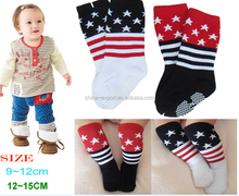 8018LF9243 2015 COTTON wholesale Japan new fashion cute latest modeling 2 color stripes stars anti slip baby stockings