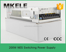 210w single output nes-200-12 enclosed 12v 200w LED switching power supply 220v 12v switching model power adapter