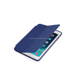 factory directly sell PU Smart Case for iPad Mini Leather Cover Fold Stand