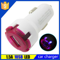 1.5a custom single usb electric car charger for lenovo ipad android phone