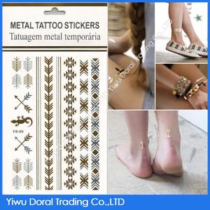 Venta a granel barato del tatuaje kits golden tatuaje etiquetas autoadhesivas de tatuajes gold indian bindis compra a granel