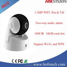 Hikvision 720P mini PT camera with wifi ,p2p ip camera