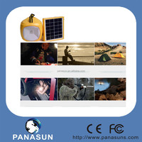 Portable Compass Emergency solar led camping light with double panel and USB