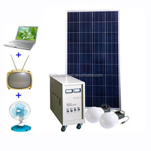100 Watt solar panel /500 W high inverter solar home kit with 100Ah rechargeable battery
