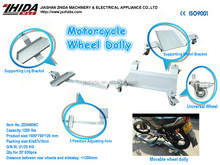 Motorcycle Wheel Dolly - Side Stand Type 4 Universal Wheels Adjusting