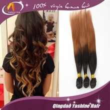 wholesale darling cheap selling 100 top quality ombre virgin indian remy hair