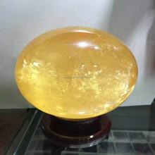 top quality Folk art natural yellow jade crystal sphere ball semi precious stone balls