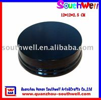 Round Wood Base of Piano Color Finish